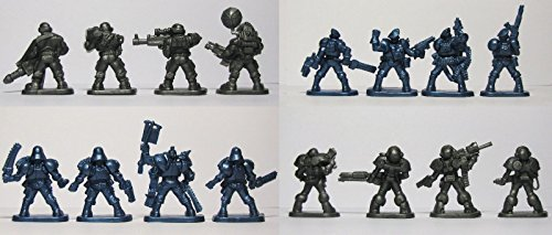 Set of 16 Fantasy Armored Infantry Toy Soldiers 40 mm (Toy Soldiers Infantry Set)