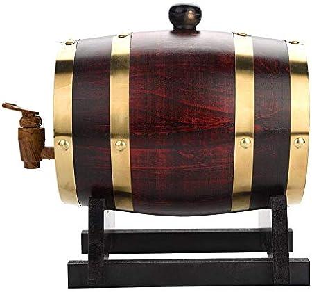 Barril de roble Whisky Barrel, Oak Wine Barrel Wine Cabinet Almacenamiento De Vino Bar Restaurante Bar Decoración Papel De Aluminio Incorporado Cojín Brandy Barril Regalo 5L Vino, cerveza, sidra, whis