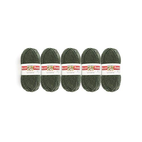 Valley Yarns Northampton 5-Pack (Worsted Weight Yarn, 100% Wool) - Dark Olive Heather