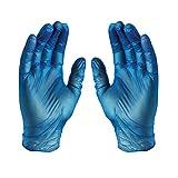 GLOVEWORKS Blue Vinyl Industrial Gloves, Box of