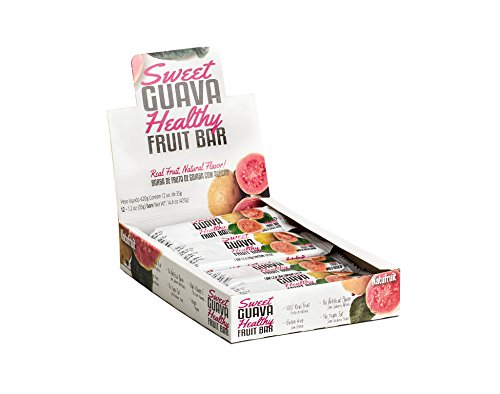 Sweet Guava Healthy Fruit Bar Box 12 - 100% Real Fruit | Gluten Free | No Artificial Flavor | No Trans Fat | High Vitamin C | Vegan | Kosher by Natufruit