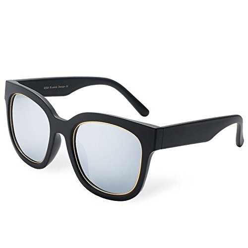 cuadrado400 de Gafas El Señor Lujo TL de Silver Hombre Mujer polarizadas Gafas Sol Sol Guía Gafas UV Sunglasses de de de Negro Azul qqa6fgZz