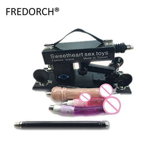 Automatic Retractable Sex Machine Female Masturbation Sex Machine for Women with Peniss,Black Style A