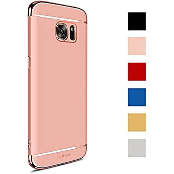 CROSYMX Samsung Galaxy S7 Case Back Cover, Ultra Slim & Rugged Fit Shock Drop Proof Impact Resist Hard Protect Case for Samsung Galaxy S7 (5.1'')(2016) - Rose Gold