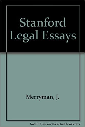 Stanford Legal Essays J Merryman  Amazoncom Books