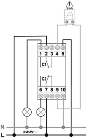 Perry/ /Interrupteur cr/épusculaire Temp 2/canaux 2DIN