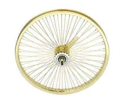 "20"" 72 Spoke Coaster Wheel 14G Gold. Bicycle wheel, bike wheel, Lowrider bike wheel, lowrider bicycle wheel, bmx, free style, chopper, cuiser, bike part, bicycle part"