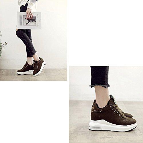 Grueso 2 Green Black 2 Aire 1 Tipos uk5 Al Zapatos Brown Zapatillas De Libre Mujer Tamaños Fondo 5 l Primavera Eu37 Liangjun 235mm color Tamaño agEZwx