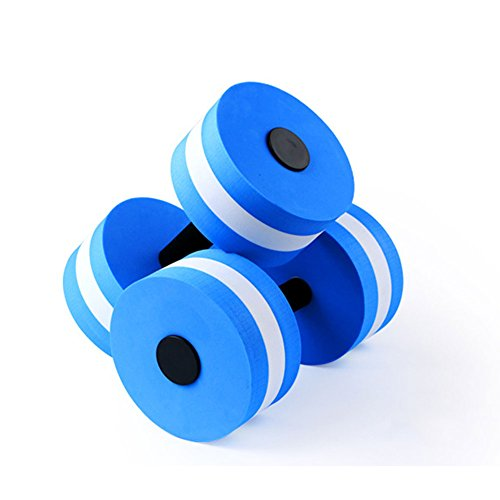 Yvonne Water Aerobics Dumbbell, EVA Foam Aquatic Barbell Fitness Aqua Pool Exercise Equipment, Set of 2 - for Water Aerobics(Blue)