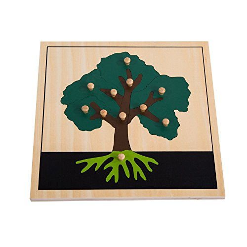 Montessori Nature Materials Tree Puzzle for Early Preschool Learning Toy