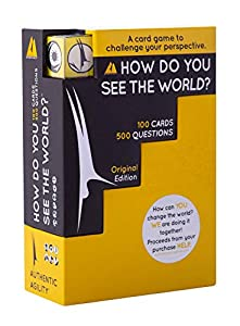 How Do You See The World? Ice Breaker Card Game to Encourage Open Discussion and Challenge Your Perspective - Includes Dice, 100 Cards with 500 Questions