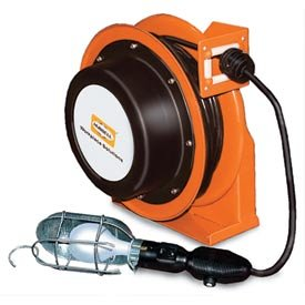 Industrial Duty Cord Reel with Incandescent Hand Lamp - 16/3c x 35' ()