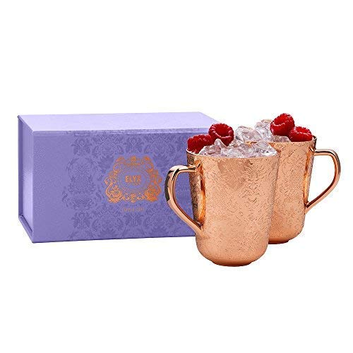 Elyx Boutique Copper Mule Cups Gift Set (set of 2) | Attach Heritage and Tradition to Your Classic Cocktail | Perfect Gift by Elyx Boutique (Image #3)