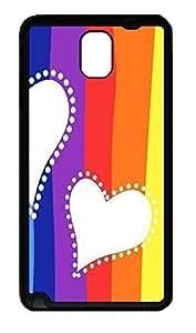 Samsung Note 3 Case Colorful Love TPU Custom Samsung Note 3 Case Cover Black doudou's case