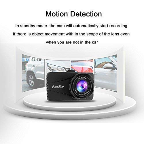 Dash Cam - ANNKOO AD01 Car DVR HD Lens 3.0'' Screen Full HD Display 1080P 1296P 170° Wide Angle HDR Dashboard Camera Vehicle with G-Sensor, WDR, Loop Recording, Black