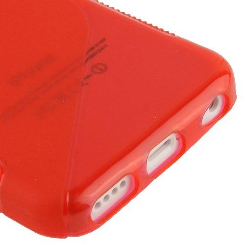"""iPhone 5C Hülle / Case / Cover in rot aus hochwertigem TPU (Silikon) im """"S-Line-Style"""" -ORIGINAL nur von THESMARTGUARD-"""