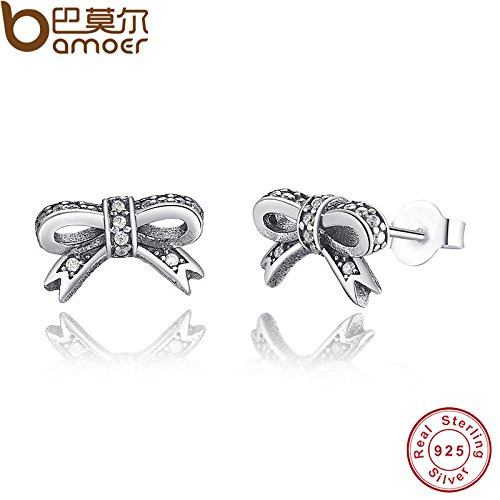 - usongs personality 925 silver earrings Tibetan silver bow cross-border hot style sterling silver jewelry earrings earrings earrings s925