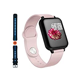 Smart Watch for Android iOS Phones 2020 Upgraded, Waterproof Fitness Tracker with Heart Rate and Blood Pressure Monitor…