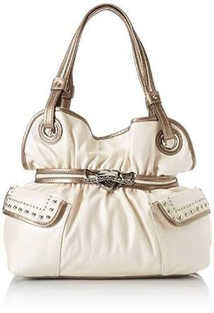 KATHY Van Zeeland Hearts On Fire Magnetic Shoulder Bag,Pearl White,One Size