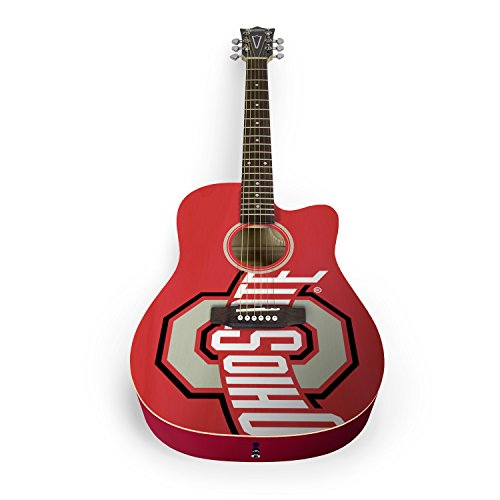 Red Bone Guitars (Woodrow Guitar by The Sports Vault NCAA Ohio State Buckeyes Acoustic Guitar)