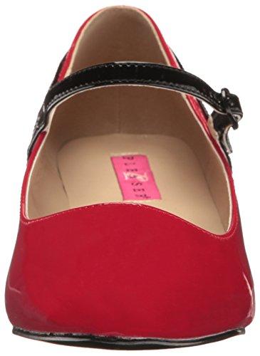 Label Red blk Pat Fab Pleaser Pink 425 RWxvnWFOw
