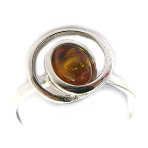 Bague Argent 'Inspiration' ambre (rhodié)