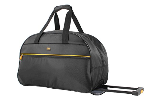 22 Wheeled Duffle (Lucas Luggage 22 Inch Printed Rolling Carry-On Suitcase Wheeled Duffel (22in, Black M))