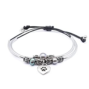 Happy 2 strand adjustable silver charm for Who sells lizzy james jewelry