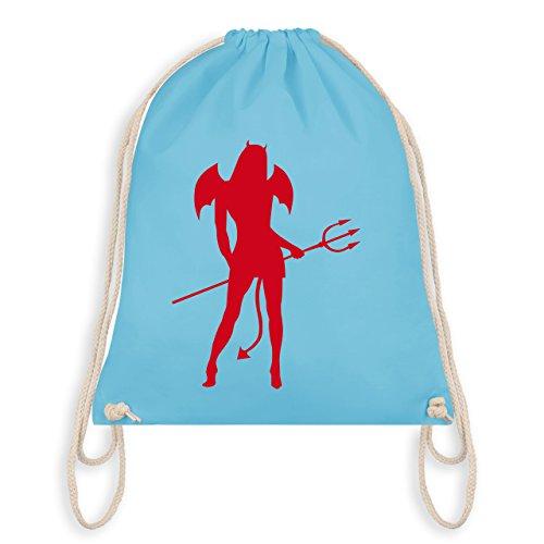 Shirtracer Halloween - Sexy Teuflin - Turnbeutel I Gym Bag Hellblau