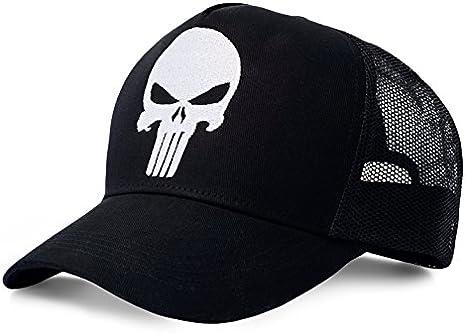 Marvel Punisher Gorra de béisbol, Negro, Talla única Unisex Adulto ...
