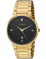 Citizen Mens BI5012-53E Quartz Gold Tone Stainless Steel Watch Case and Bracelet