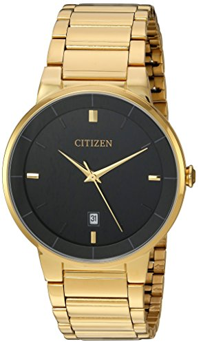 Citizen Men's BI5012-53E Quartz Gold Tone Stainless Steel Watch Case and Bracelet