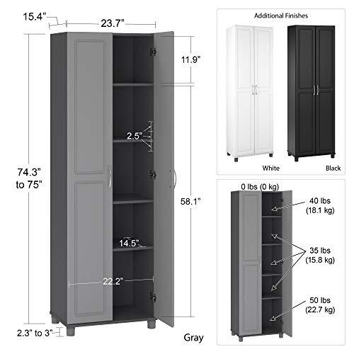 SystemBuild Storage Cabinet, Black Oak