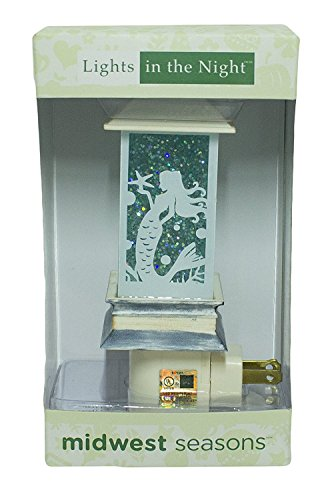 (Lighted Mermaid Lantern Night Light Shimmers & Sparkles New in Box)