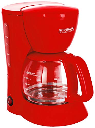 Kitchen Selectives Colors Red 5 Cup Coffee Maker