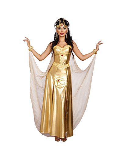 Dreamgirl Women's Goddess of Egypt Costume, Gold, (Egypt Halloween Costumes)