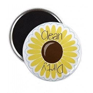 Sunflower Clean Dirty Dishwasher Magnet
