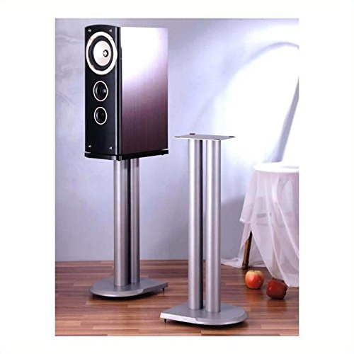 VTI UF Series Speaker Stands Pair in Grey Silver - 24'' Height by VTI