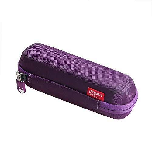 For Braun Forehead Thermometer FHT1000 EVA Hard Protective Case Carrying Pouch Cover Bag Purple By Hermitshell