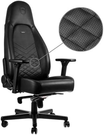 noblechairs ICON Gaming Chair – Office Chair – Desk Chair – PU Leather – Black
