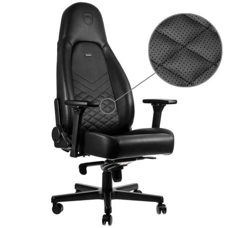 Wondrous Noblechairs Icon Gaming Chair Office Chair Desk Chair Pu Faux Leather Ergonomic Cold Foam Upholstery 330 Lbs Racing Seat Design Black Creativecarmelina Interior Chair Design Creativecarmelinacom