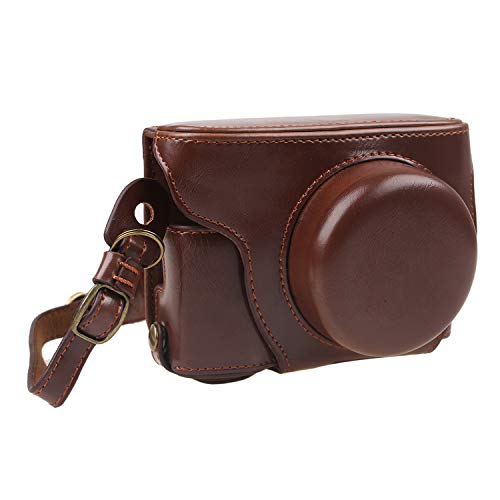 Case Olympus Protective - TUYUNG Protective PU Leather Camera Case Bag with Strap, Storage Case for Olympus Pen E-PL8 EPL8 with 14-42mm Digital Camera - Coffee