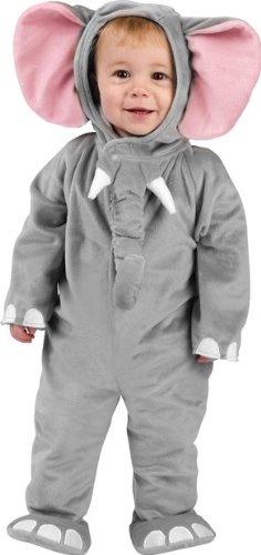 Baby Cuddly Elephant Costumes (Fun World Cuddly Elephant Infant Costume-6-12)