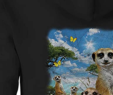 Zip Up Hoodie Meerkats Summer Sun Hooded Sweatshirt for Men