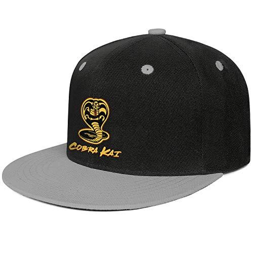 SHTHYTS Womens Cobra-Kai-Material-Snake-Logo-Adjustable Snapback Hats Personalized Fishing Trucker Dad Baseball Caps -