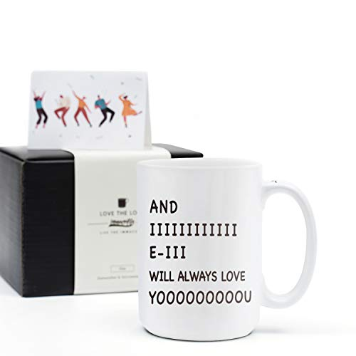 Halloween Gifts For Wife (Funny Coffee Mug Tea Cup -Birthday Christmas Halloween Gift for Wife Husband Mom Dad Boyfriend Girlfriend-And I Will Always Love You-15 Oz Coffee)