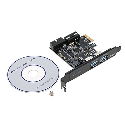 GXG-1987 PCI-E to USB 3.0 2-Port PCI Express Card Mini PCI-E USB 3.0 Hub Controller Adapter with Internal USB 3.0 19-Pin Connector and 5V 4 Pin Male Power Dual Port Connector by GXG-1987 (Image #7)