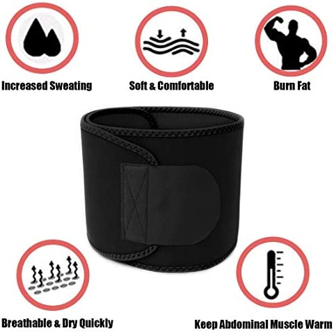 HIFEOS Waist Trimmer, Waist Trimmer Belt for Weight Loss, Slim Body Sweat Belt for Stomach Sauna Exercise, for Women and Men, Belly Fat Slimming Band 4