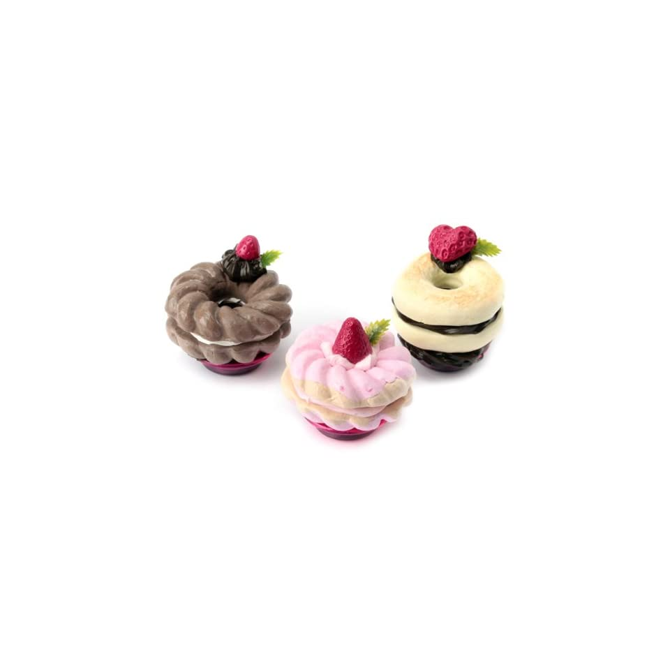 3 Donuts Magnets for your fridge/adorable fake dessert and food craft/Tokyo Dessert Factory