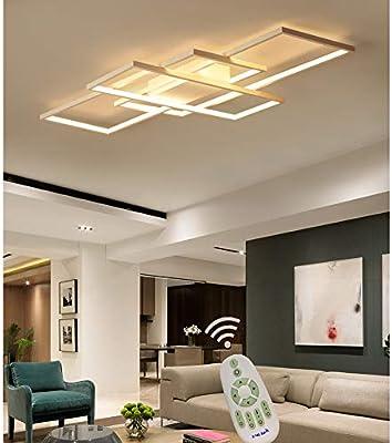 LED Deckenleuchte Wohnzimmer lampen Dimmbar Deckenlampe Hängeleuchte ...